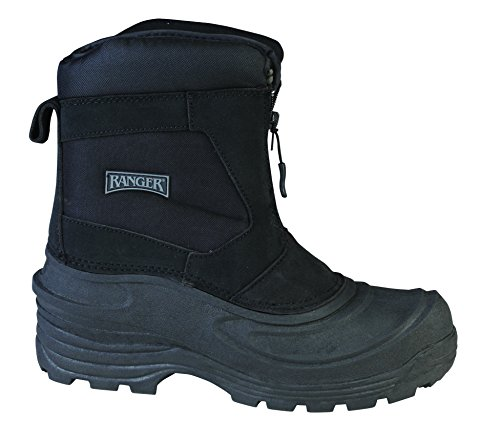 Ranger Flintlock III Men's Leather Thermolite Winter Boots, Black (RP118)