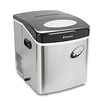 Dometic HZB-15S Black Stainless Steel Portable Top Load Ice Maker