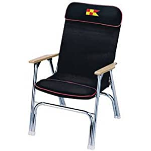 Garelick/Eez-In 35029-62:01 EEz-In Designer Series Padded Deck Chair (Black)