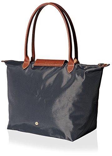LONGCHAMP - Bolso de tela de nailon para mujer gris