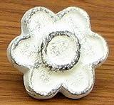 Home Decor- Antique White Flower Drawer Pull Set/12
