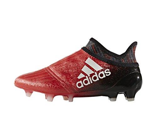 Bota de fútbol adidas jr X 16+ Purechaos FG Red-White Red-White