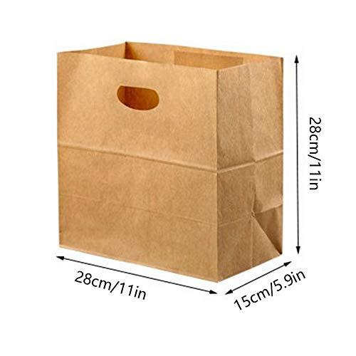 Bolsas de papel para el almuerzo, 25 unidades, reutilizables ...