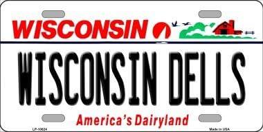 Smart Blonde Wisconsin Dells Wisconsin Metal Novelty License Plate LP-10624