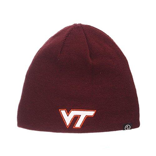 ZHATS Virginia Tech Hokies Reversible Edge Skull Cap - NCAA 2-Sided Knit Beanie Hat -  Zephyr