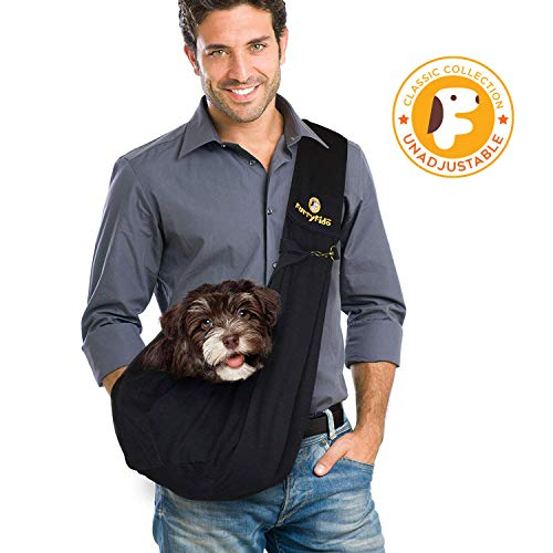 Furry Fido Black Classic Pet Sling (Sling Style Pet Carrier)