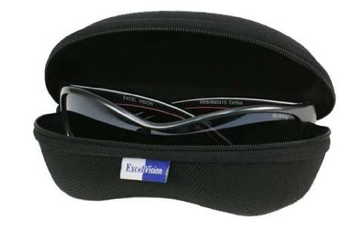 Sunglasses Eyeglasses Case with Zipper, Black by E. Vision