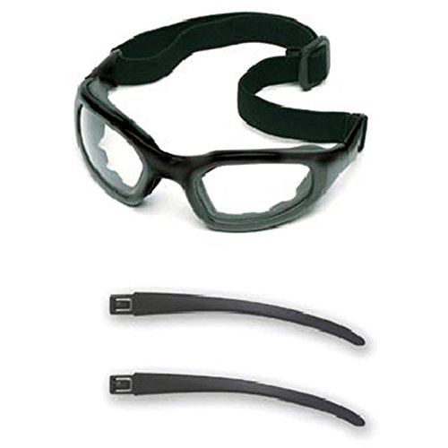 3M (Formerly Aearo) 40686-00000 Maxim Impact Goggles with Black Nylon Dual Lens Frame, Clear Anti-Fog Lens, Elastic Band and Air Bladder Cushion, Plastic, 1