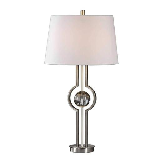 Amazon.com: Midtown Lámpara de mesa de níquel cepillado ...