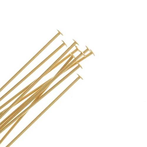 14k Gold Filled Head Pins (Beadaholique 10-Piece Filled Head Pins, 24-Gauge, 1-Inch, 14K Gold)