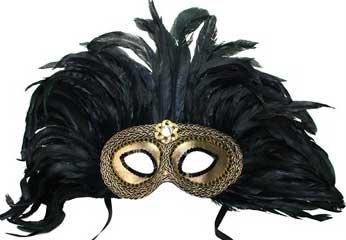 [Cleopatra Gold Venetian Mask Mardi Masquerade Halloween Costume] (Cleopatra Outfit)