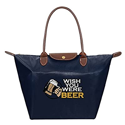 hot sale 2017 Fanboupout Wish You Were Beer Large Tote Bags Multifunction Waterproof Shoulder Handbags With Zipper