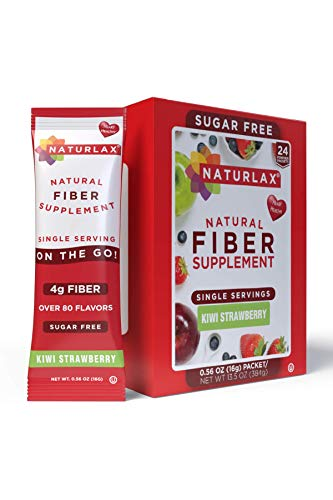 Naturlax Kiwi Strawberry Flavored Psyllium Husk, 24 Fiber Packets