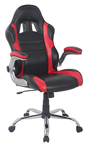 41nas7x2mpL - Barcalounger 80581H Bonded Leather Gaming Chair, Red