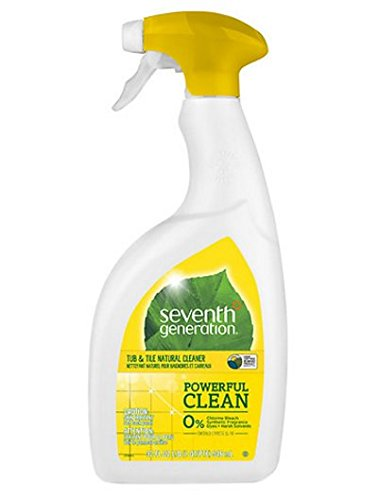 Seventh Generation Natural Tub & Tile Cleaner, Emerald Cypress & Fir Scent 32 fl oz,4 pack