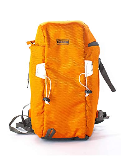 RUBRIC® E5 Backpack Bag for DSLR Camera Canon Sony Nikon, Orange Waterproof Anti Theft Front Open (E5, Orange)