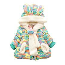 Happy Cherry Toddler Girls Outerwear Jacket Coat Snow Wear with Sacrf Camouflage