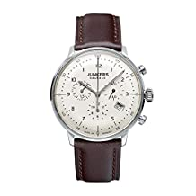 Junkers Bauhaus Quartz Chronograph Watch with Domed Hesalite Crystal 6086-5