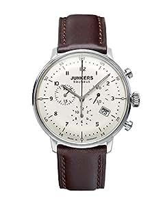 Junkers 6086-5 - Reloj de cuarzo para hombre con correa de piel, color marrón