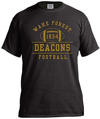 NCAA Wake Forest Demon Deacons Retro Football Short Sleeve Comfort Color Tee, X-Large,Black ()