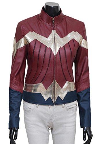 Woman Walmart Wonder Costume (Wonder Woman 2017 Iconic Synthetic Leather Halloween Costume Jacket)