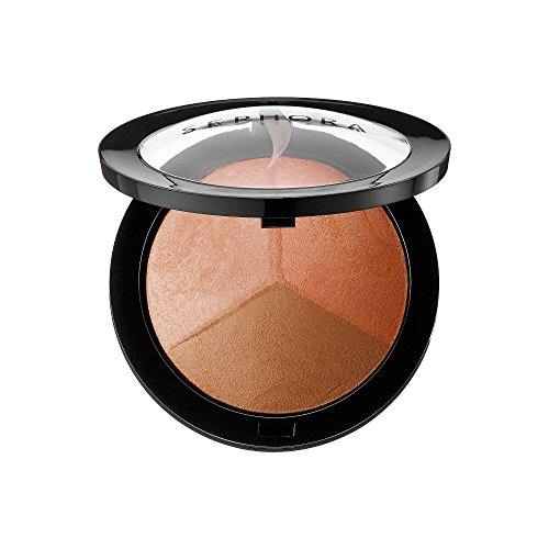 Sephora Collection MicroSmooth Baked Sculpting and Contour Trio Palette in Spirited 3-in-1 Luminizer Highlight, Matte-Satin Blush and Bronzer Large Size Authentic