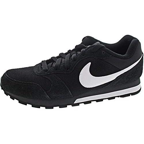 chollos oferta descuentos barato Nike Md Runner 2 Zapatillas de correr para Hombre Negro Negro Blanco Gris oscuro 38 5 EU