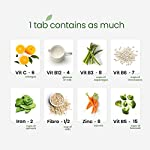 Wellbeing Nutrition Daily Greens, Wholefood Multivitamin with Vitamin C, Zinc, B6, B12, Iron for Immunity and Detox with…