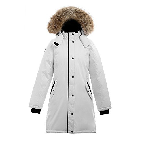 Triple F.A.T. Goose Alistair II Womens Down Jacket (Medium, White) ()