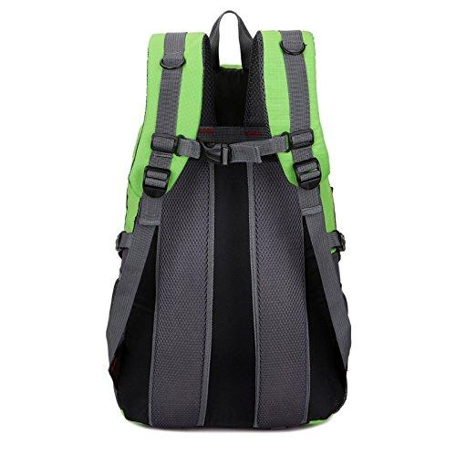 Mountaineering Bag Outdoor Männer und Frauen Schulter Rucksack nylon Wanderpackage atmungsaktiv Bergsteigen Taschen , orange