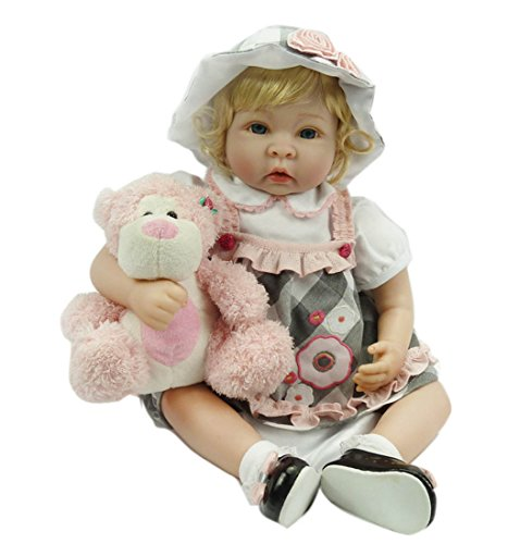 Oumeinuo Reborn Dolls Lifelike Newborn Realistic Baby Doll Silicone vinyl 22inch Weighted Baby Girl or Boy Anatomically Correct Toys
