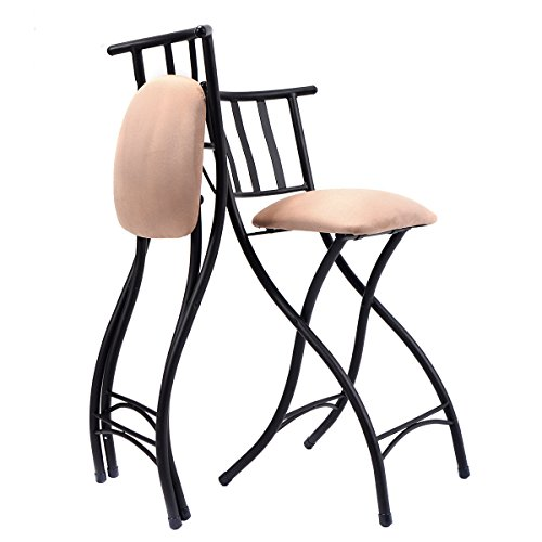 Set of 4 Folding Bar Stools 23'' Counter Height Bistro Dining Kitchen Pub Chair by allgoodsdelight365 (Image #4)