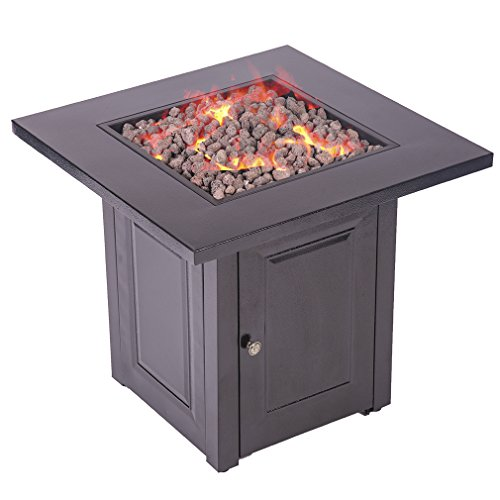 FDW Propane Fire Pit Patio Heaters Antique Hammered Bronze Finish Outdoor Gas Table - Antique Bronze Patio Heater