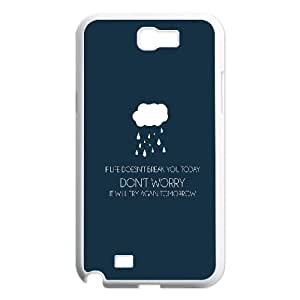 Samsung Galaxy N2 7100 Cell Phone Case White Dont Worry OJ508533