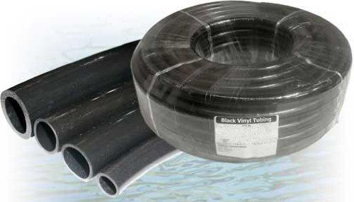 Alpine Corporation V0017PBK 1'' ID x 1-1/4'' OD x 1/8'' Wall Black PVC Tubing Coil