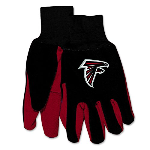 WinCraft NFL Atlanta Falcons Mechanical/Gardening/Utility Glove with 3D Alternate Logo ... ... (Black on Red)