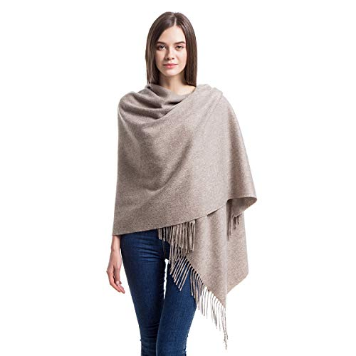 Cashmere Wrap Shawl Stole for Women, Winter Extra Large(79in x 28in) Wool Scarf, Opal Gray ()