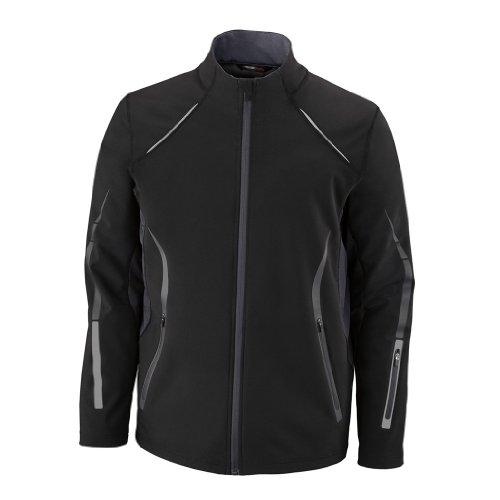 (Ash City Mens Pursuit Soft Shell Jacket (XXX-Large, Black/Carbon))