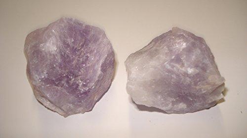 (#1) 2pc Amethyst Madagascar Medium Raw Rough 100% Natural Crystal Gemstone Specimen