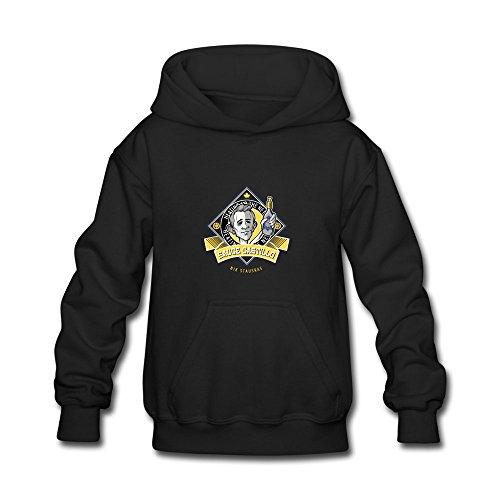 ATHLETE ORIGINALS Little Boys' Hoodie by Nik Stauskas Check The Label Sauce Castillo in Dark & Goldenrod & Light & Oxford & Mustard & White & Yellow (Digital Print) S Black
