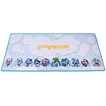"Thermaltake Tt Esports Dasher Extended Hatsune Miku Limited Edition Gaming Mouse Pad Snow Miku 2019 Edition Semi-Coarse Surface Non-Slip Rubber Base 35.43""X15.75""X0.16"" MP-DSH-Blksxs-09"