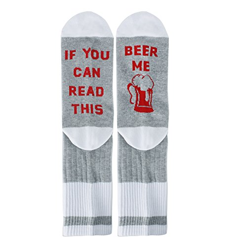 Zmart Women Funny Saying Cotton Crew Beer Socks