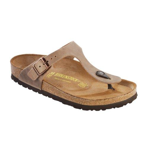 Birkenstock Women's GIzeh Thong Sandal, Tobacco Brown Leather, 39 M EU/8-8.5 B(M) US