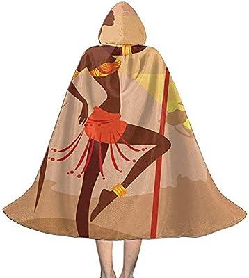 KDU Fashion Manto De Bruja,Mujer Africana con Lanza Capas De Capa ...