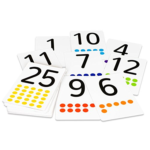 Magnetic Flash Cards - 41 Large Numbers 0-25 With Counting Dots And Symbols - Addition & Subtraction - For School Teachers, Parents - Early Learning of Kids, Teenagers and Adults, ESL