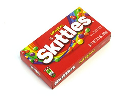 - Skittles Original Bite Size Candies - 3.5 oz. Theater Size Box (Pack of 6)