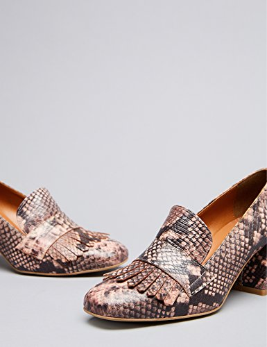 FIND Damen Ari Heeled Geschlossene Sandalen Pink (Snake)