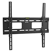 QualGear QG-TM-T-015 Universal Low Profile Tilting Wall Mount for 32-55-Inch LED TV, Black