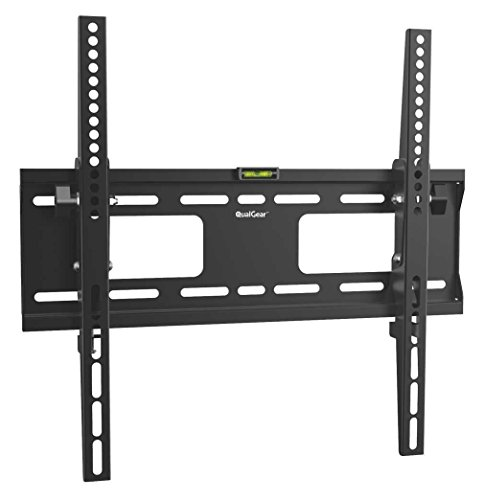 QualGear QG-TM-T-015 Universal Low Profile Tilting Wall Mount for 32-55 Inches LED TV, Black ()