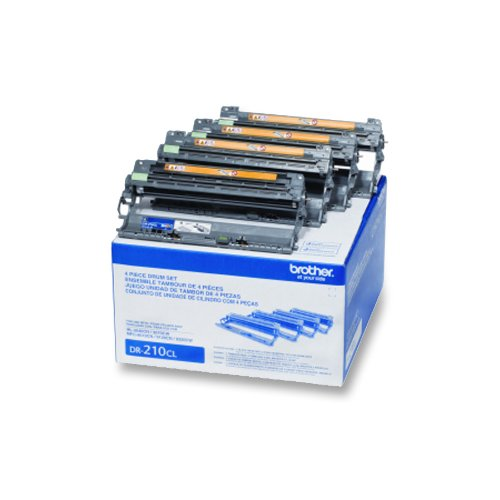 Brother DR-210CL Four Drums - 1 Black, 1 Cyan, 1 Magenta, 1 Yellow - Retail Packaging (Brother Mfc9325 Toner)